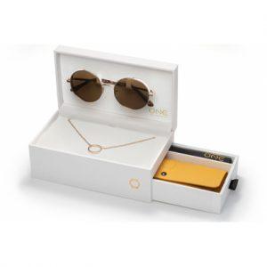 SUNGLASSES ONE UNIQUE BOX ROSEGOLD | OSBMS4572RCC321H