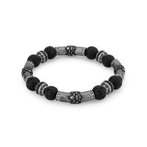 Pulseira Police Beads | Ceistais Hematite | PEJGB2112401